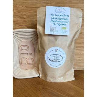Backmischung Buchweizen-/Reisbrot glutenfrei